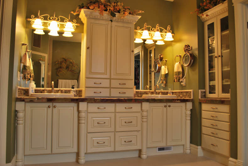 building custom bathroom cabinets easy built in cabinets
