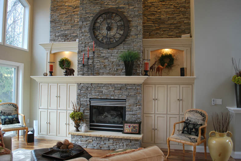 Fireplace Cabinets And Mantel